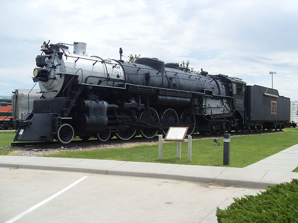 Chicago, Burlington and Quincy Railroad steam locomotive in Douglas, WY